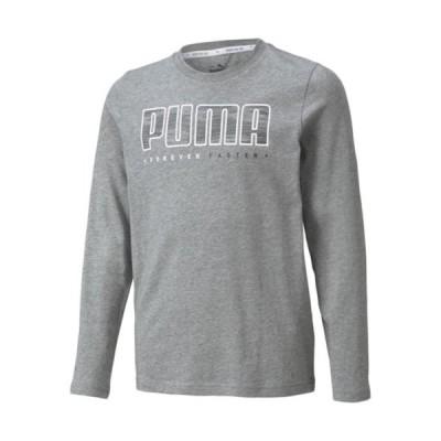 プーマ(PUMA) ジュニア ACTIVE SPORTS LS Tシャツ ミディアムグレーヘザー 846500 03 長袖 Tシャツ トップス スポーツウェア 子供