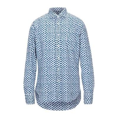 BOLZONELLA 1934 柄入りシャツ  メンズファッション  トップス  シャツ、カジュアルシャツ  長袖 ダークブルー