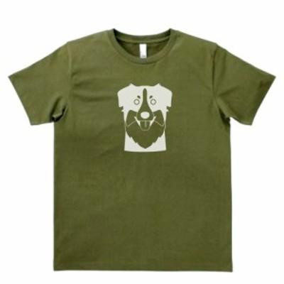 デザインTシャツ おもしろ 動物 生き物 犬 イヌ 2 カーキー