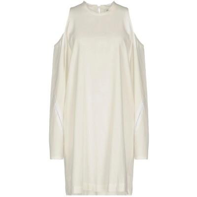 LOST & FOUND ミニワンピース&ドレス アイボリー S 52% テンセル 48% コットン ミニワンピース&ドレス