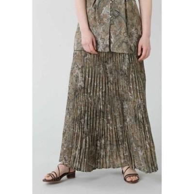 ROSE BUD / ローズ バッド ペイズリープリーツロングスカート
