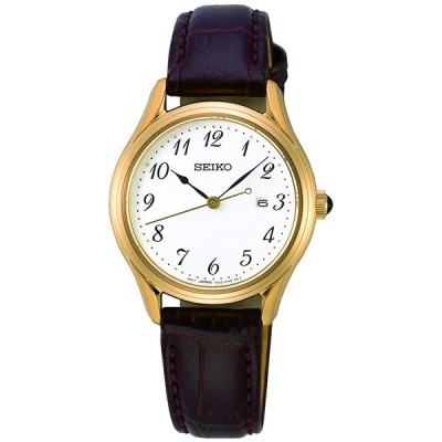 腕時計  Seiko Neo Classic Quartz White Dial Ladies Watch SUR638 輸入品