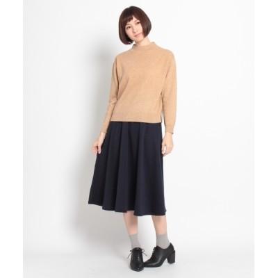 WORLD ONLINE STORE SELECT / モックネックニット+ミモレ丈スカートSET WOMEN トップス > ニット/セーター
