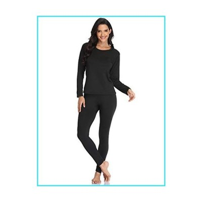 JZCreater Women Thermal Underwear Set Tight, Base Layer Top & Bottom Long John Set (Black,L)【並行輸入品】