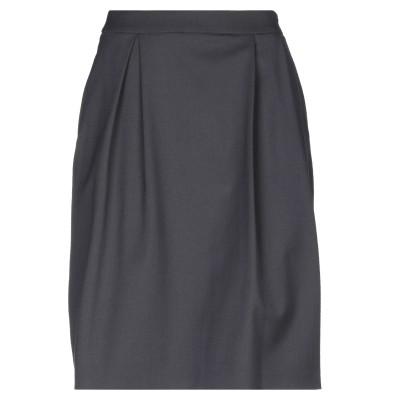PESERICO SIGN ひざ丈スカート スチールグレー 42 ポリエステル 53% / ウール 43% / ポリウレタン 4% ひざ丈スカート