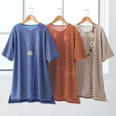 ベルーナ 【3色組】しっかり素材切替Tシャツ<ティオ> 1 LL レディース