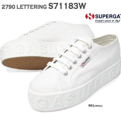 スペルガ スニーカー レディース 厚底 S71183W 2790 LETTERING コットン
