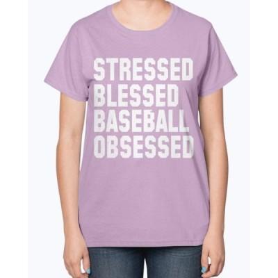 ユニセックス 衣類 トップス Stressed Blessed Baseball Obsessed -Baseball - Sports- Ladies T-Shirt タンクトップ