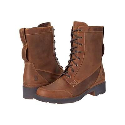 ティンバーランド Gracelyn Waterproof Mid Lace Side-Zip Boot レディース ブーツ Rust Full Grain
