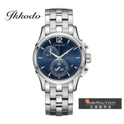 ハミルトン HAMILTON ジャズマスター クロノクォーツ Jazzmaster Chrono Quartz 42ミリ ネイビーダイヤル 10気圧防水 日本国内正規品 腕時計 2年保証 H32612141