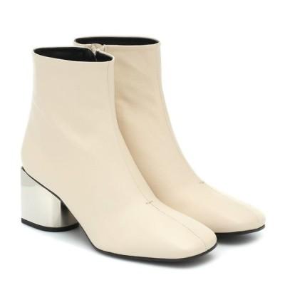 プロエンザ スクーラー Proenza Schouler レディース ブーツ ショートブーツ シューズ・靴 Leather ankle boots Ecru