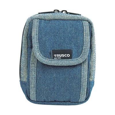 TDCH101TRUSCO デニム携帯電話用ケース 2ポケット ブルー7689900