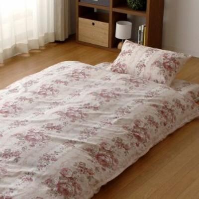 掛けふとんカバー 日本製 綿100% 上品なローズ柄 シングルサイズ 150×200cm 掛けカバー 布団カバー シングル