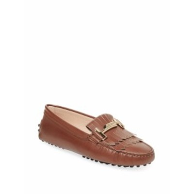 トッズ レディース フラットシューズ Textured Leather Loafer