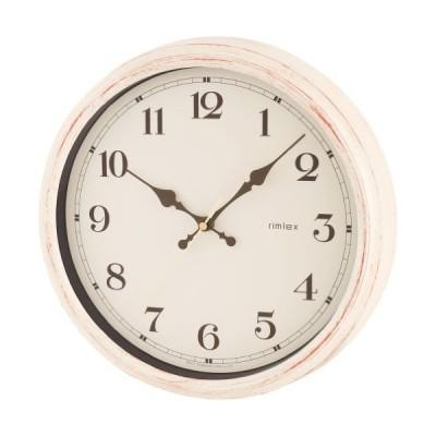 NOA Aerial Retro(電波時計 エアリアル レトロ)掛け時計 ホワイト W-571 WH