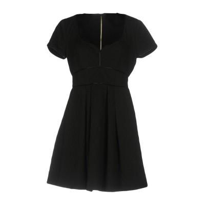 MANGANO ミニワンピース&ドレス ブラック 40 96% ポリエステル 4% ポリウレタン ミニワンピース&ドレス