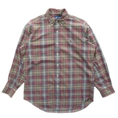 POLO ポロラルフローレン ボタンダウンシャツ チェック 長袖 サイズ表記:M