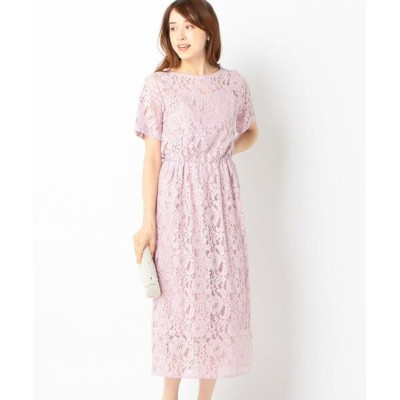 SHIPS for women/シップスウィメン little black:レースレイヤードワンピース ピンク ONE SIZE