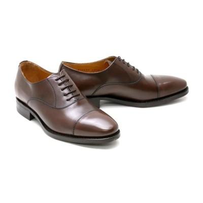 ビジネスシューズ 本革 ストレートチップ キャップトゥ メンズ 革靴 本革 クインクラシコ 4276ddbr ダークブラウン(茶色) キャップトゥラバーソール