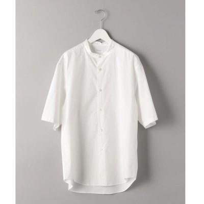 シャツ ブラウス BY タイプライター バンドカラー テーパード シャツ