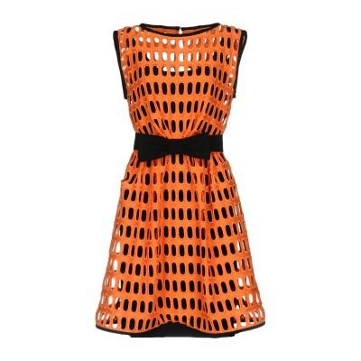 モスキーノ MOSCHINO ミニワンピース&ドレス オレンジ 38 80% コットン 20% ポリエステル ミニワンピース&ドレス