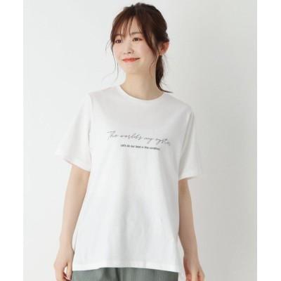 【ピンクアドベ】 USAコットン両面ロゴTシャツ レディース オフホワイト 42(LL) pink adobe