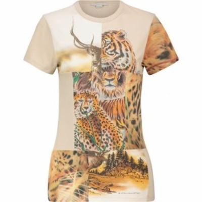 ステラ マッカートニー Stella McCartney レディース Tシャツ トップス printed cotton t-shirt Parchment