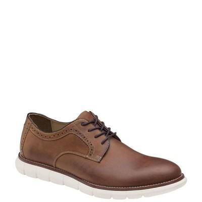 ジョンストンアンドマーフィー メンズ スニーカー シューズ Men's Plain Toe Leather Casual Shoes Tan