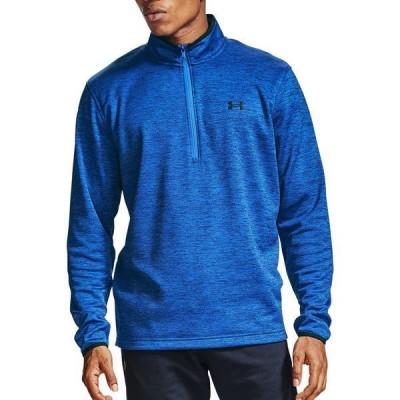 アンダーアーマー シャツ トップス メンズ Under Armour Men's Armour Fleece 1/2 Zip Long Sleeve Shirt EmotionBlue/Black