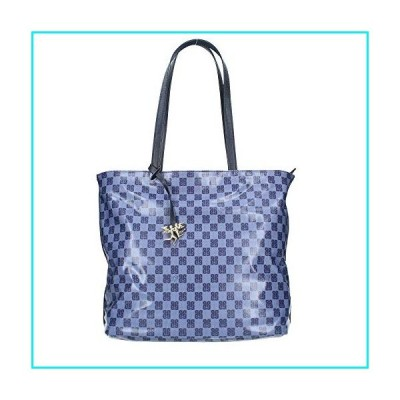 Medium Tote bag - Piero Guidi - Monogram Soft - Blue - 34 x 32,5 x 16 cm【並行輸入品】