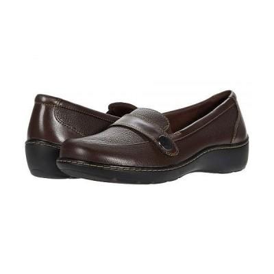 Clarks クラークス レディース 女性用 シューズ 靴 ローファー ボートシューズ Cora Daisy - Dark Brown Tumbled Leather