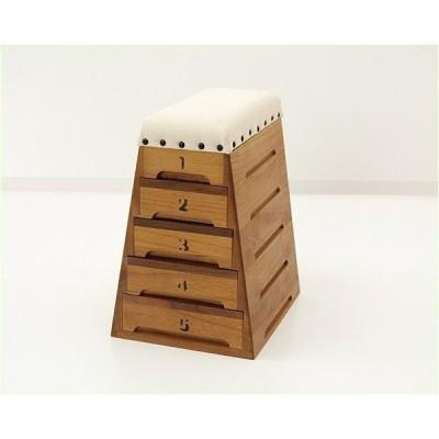 ミニ跳び箱小物入れ 裁縫箱 (5段引出し-小) トビコバコ (TOBIcoBACO) サラビ