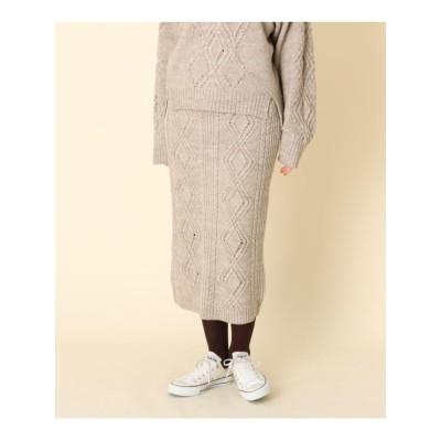 【WEB限定販売】ケーブルニットスカート