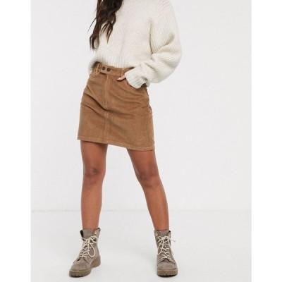 ホリスター Hollister レディース ミニスカート スカート Cord Mini Skirt トーストココナッツ