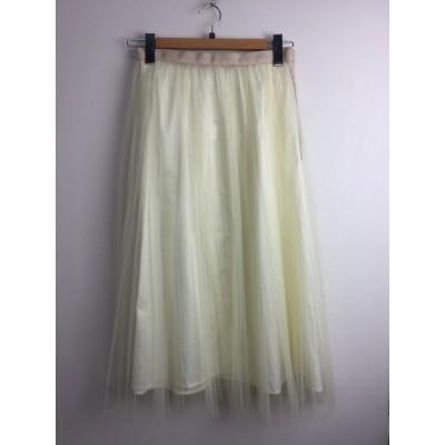 ミュベールワーク MUVEIL WORK チュールプリーツスカート ペチコート ロング サイズ38 MW74FS001 09