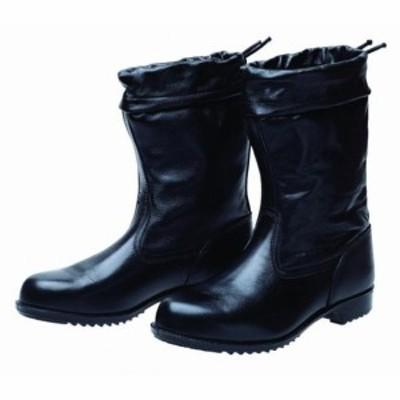 ドンケル 安全靴(半長靴)カバー付 ラバー1層底 耐滑 ブラック 26.5cm 1足