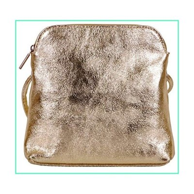 Primo Sacchi Italian Soft Leather Hand Made Small Mini Metallic Gold Shoulder Bag Handbag Purse並行輸入品