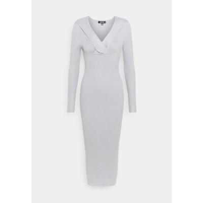 ミスガイデッド レディース ドレス WRAP BUST MIDAXI DRESS - Shift dress - grey