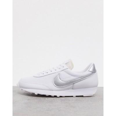 ナイキ Nike レディース スニーカー シューズ・靴 Daybreak trainers in white and silver