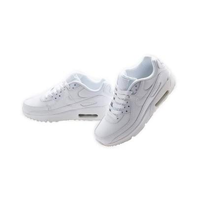 [ナイキ] AIR MAX 90 LEATHER GS エア マックス 90 レザー レディース・ボーイズ・ガールズサイズ WHITE ホワイト 白 #CD68