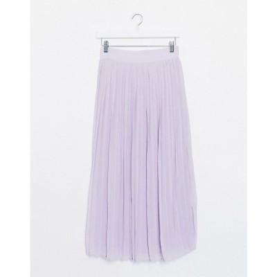 ヴィラ Vila レディース ひざ丈スカート スカート pleated midi skirt