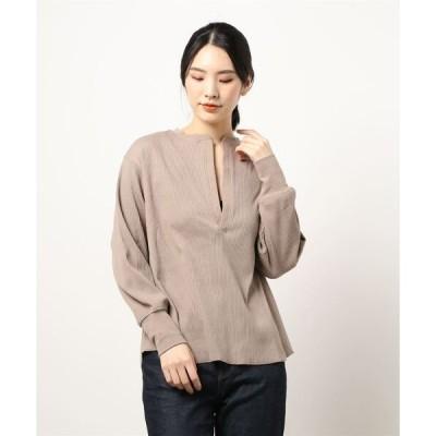 tシャツ Tシャツ 深Vデザインカットプルオーバー*