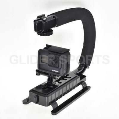 GoPro 用 アクセサリー ビデオハンドル ビデオ デジカメ カメラ用 (HERO9 HERO8 HERO7/6/5 MAX Session DJI Osmo Action 対応) ゴープロ用