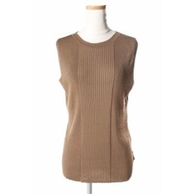 【中古】セオリー theory 18SS Dress Up2 Kralla Sl Rib カットソー ニット リブ ノースリーブ S 茶 ブラウン /yt0419