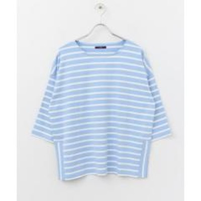 ITEMS URBANRESEARCH(アイテムズ アーバンリサーチ)ボーダールーズシルエットTシャツ【お取り寄せ商品】