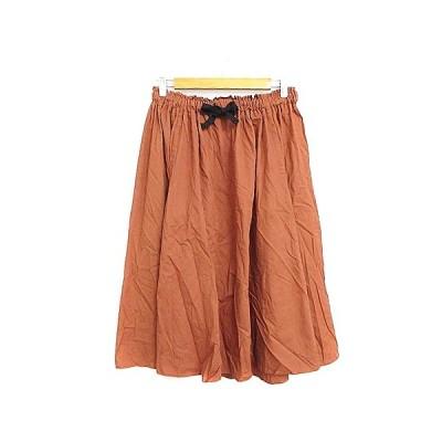 【中古】マウジー moussy スカート ギャザー ミモレ ロング F 茶色 ブラウン /AAM28 レディース 【ベクトル 古着】
