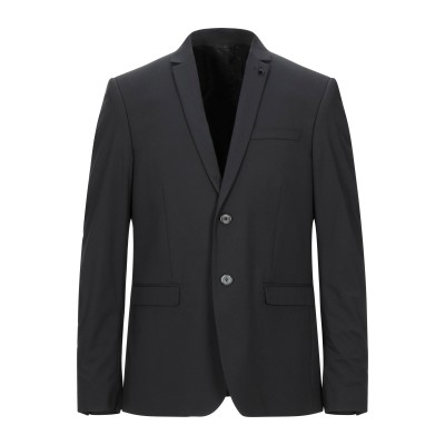 パトリツィア ペペ PATRIZIA PEPE テーラードジャケット ブラック 44 ポリエステル 63% / レーヨン 35% / ポリウレタン
