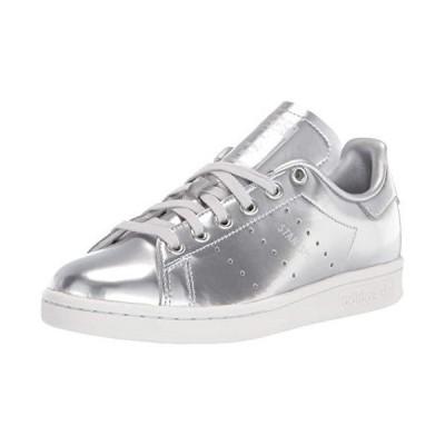 adidas Originals Women's Stan Smith Sneaker, Silver Metallic/Silver Metallic/Crystal White, 9
