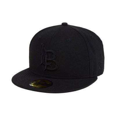 ニューエラ メンズ 帽子 アクセサリー Long Beach State 49ers Core Black on Black 59FIFTY Fitted Cap