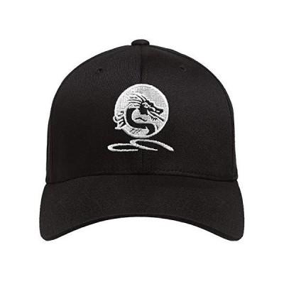 Baseball Cap 2 Pcs Dragon Embroidered Adjustable Hat Black
